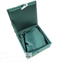 Wholesale Necklaces Fabric - Gift Boxes For Jewelry 10pcs Mix Color Pattern 4*4 inch Silk Fabric Square with Lined Display Cases