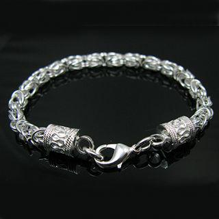 Bästsäljande 925 Silver Charm Armband New Leader Unisex Fashion Smycken Gratis Frakt 10 Stame / Lot
