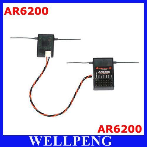 spektrum ar6200 receiver for dx6i jr dx7 dsm2 plastic bag ... spektrum dx7 rc helicopter wiring diagram