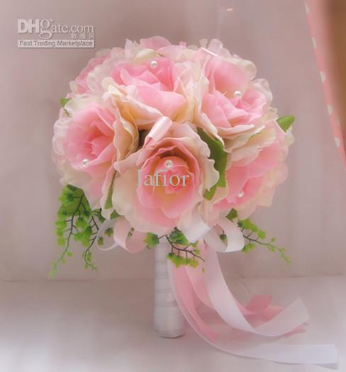 pink rose wedding bouquet pink wedding bouquet diameter 28 cm wedding bouquet 6592