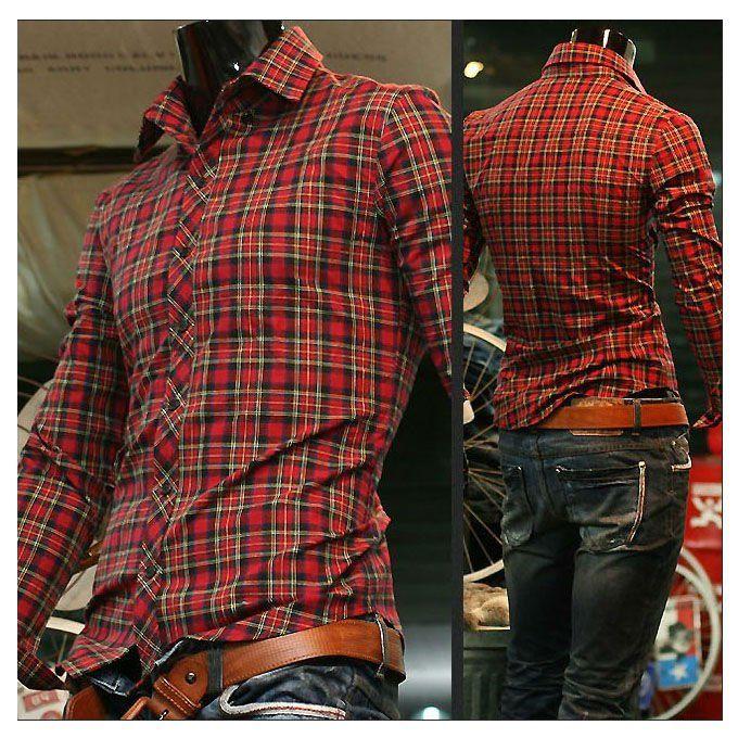 2017 2012 New Mens Shirts Mens Casual Shirts Slim Fit Stylish ...