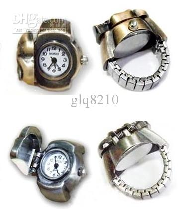 Best Selling Vintage Skull Cover Finger Ring Watch Personality Rings Watches Stretch Strap 30pcs/lot