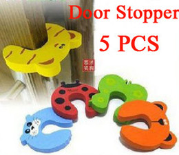 Wholesale Safety Gate Door - New 5x Baby Safety Finger Pinch Guard Door Stopper Baby safety products gate card Animal model