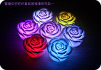 Wholesale Romantic Collection - New 7 Colors Romantic Gradual Change LED Rose Night-Lights Christmas toy gifts Collection can mixed