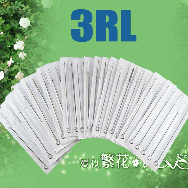 best selling 100pcs 3RL Pre-made Sterilized Tattoo Needles Disposable Tattoo Kits Supply