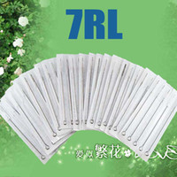 Wholesale Wholesale Tattoo Guns - 100pcs 7RL Quality Disposable Tattoo Needles Sterilized For Tattoo Gun Inks Kits Beauty Tools