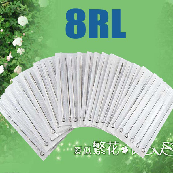 best selling 100pcs Of 8RL Disposable Tattoo Needle Needles Sterilized Beauty Tools