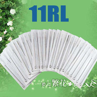 Wholesale Tattoo 11rl - High Quality 100pcs 11RL Disposable Tattoo Needle Needles Sterilized Tattoo Tool Supplies