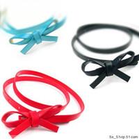 Wholesale Fine Leather Belts - Women's Fashion Belt Girl Belt Women's Belt Fine Belt Bowknot Slender Waist Belt