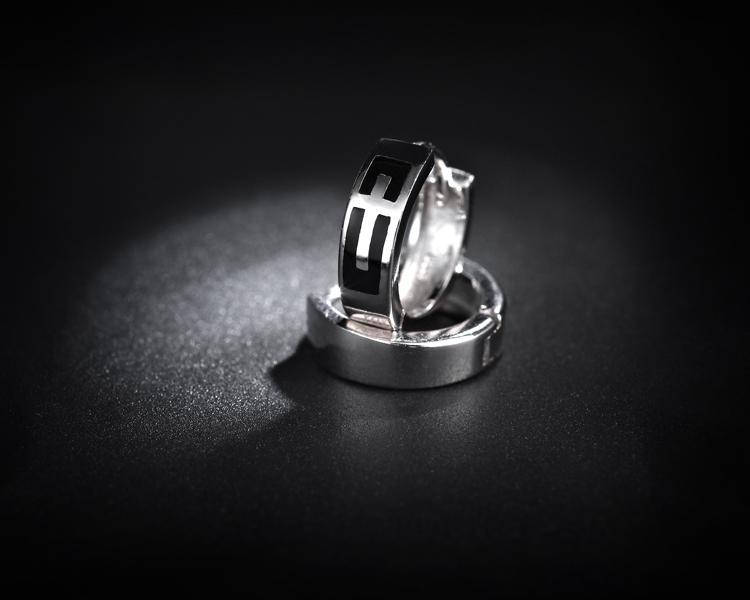 MXZA Vintage Cross Hoop Earrings Smooth and Shining 925 silver sterling Men's/Women's Hoop Stud Earrings For 2016 Fashion New