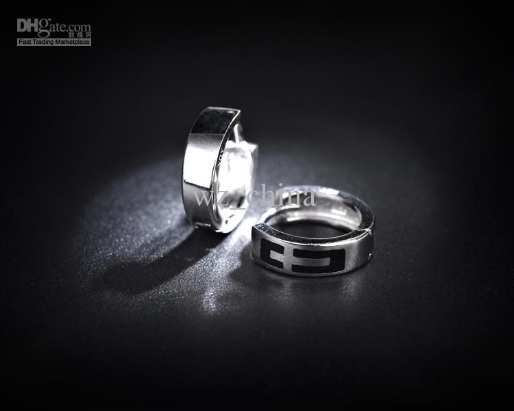 925 Sterling Silver Earrings Men Hoop Earrings Ear Stud Jewelry Body Jewelry Wedding Cross Women Men Body Piercing Vintage Style