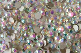 Wholesale Crystal Rhinestones Flatback Ss16 - high shine crystal ab nail rhinestone flatback silver back non-hotfix ss16 ss20 ss30 ss34 ss40