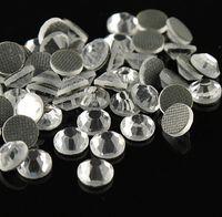 Wholesale Hot Fix Rhinestone Crystals - 1440 X ss6, ss8, ss10, ss12, ss40 crystal clear iron on hot fix rhinestones transfer diamond