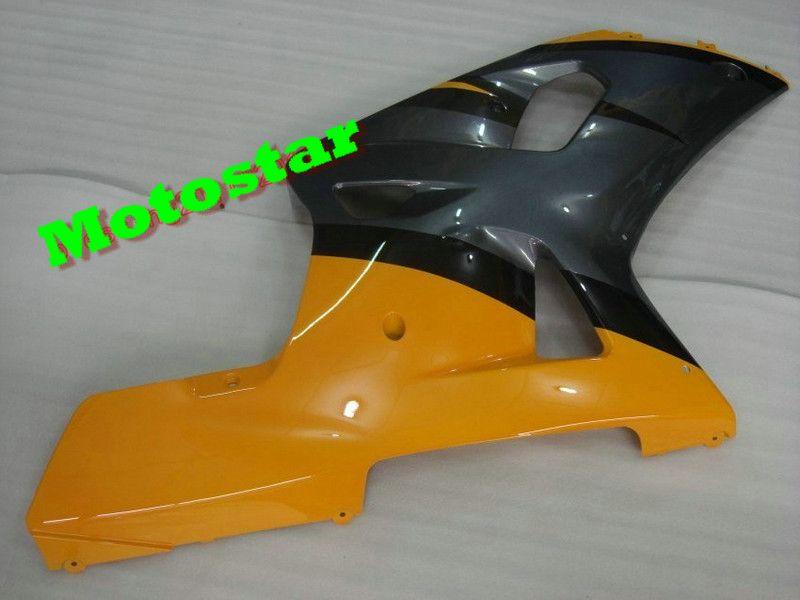 YELLOW Fairings GSXR 600 750 K1 2001 2002 2003 GSXR600 GSXR750 01 02 03 için Ücretsiz Ön Cam Seti