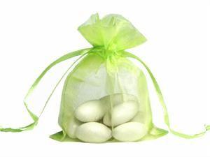 200 Pcs Light Green Organza Gift Bag 7X9 cm ( 2.7 x 3.5 inch ) Wedding Favor