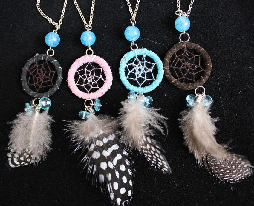 Wholesale Shipping Free Chain Dream Catcher Necklace Diamond Pendant Custom Dream Catcher Necklace Philippines