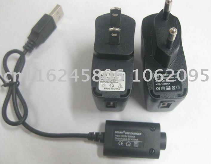 送料無料電子タバコEGO-T EGO USB充電器および壁充電器10PCS /ロット