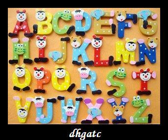 2018 Cute 26 Letters Fridge Magnet Early Childhood Wooden