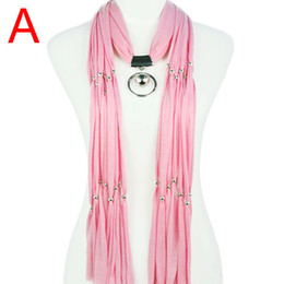 Circle Jewelry Necklace Scarves Canada - High Quality Handmade Jewelry Pendant Scarves with Charm Necklace Pendant scarf for women ,5colors Available , NL-1620