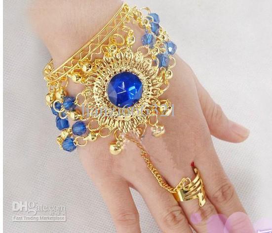 Buikdans kostuum mode-sieraden armband tribal accessoire buikdans edelsteen armband blauw / rood / rose rood