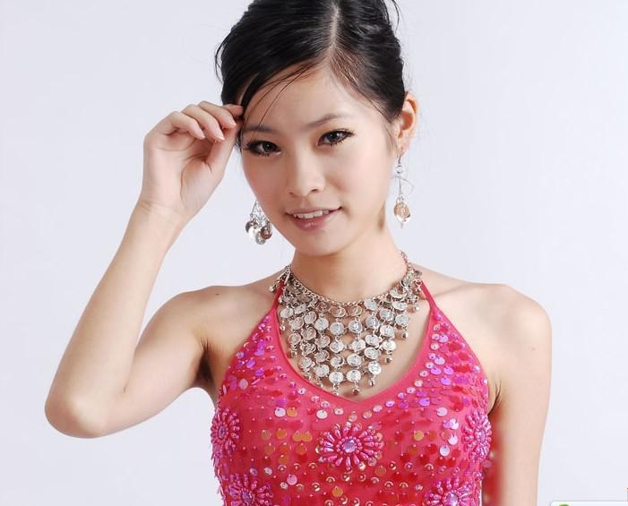 GOLD/SILVER BELLY DANCE JEWELRY EARRING NECKLACE SET Belly Dance Jewelry Set Belly Dance Necklace Earring