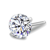 ingrosso orecchini a sfere grigio-0.8ct orecchini a bottone con diamanti 6mm argento rotondo a forma di pavé con perline di cristallo grigio orecchini a perno orecchini donne boho 30pair