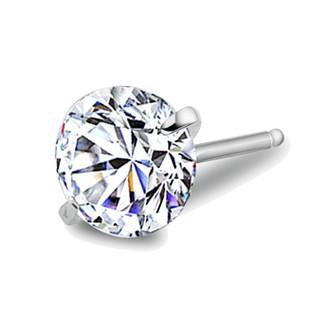 0.8ct Diamond Stud Earrings 6mm Silver Round Ball Pave Beads Gray Crystal Stud Earrings Women Boho Jewelry Earrings 30pair
