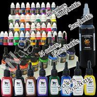tinta de tatuaje de alto pigmento al por mayor-Envío gratis Tintas de tatuaje suministros High Qualtiy 40 + 14 + 8 + 1 Color 8ml 2OZ 1/2 oz Pigment Kit Set