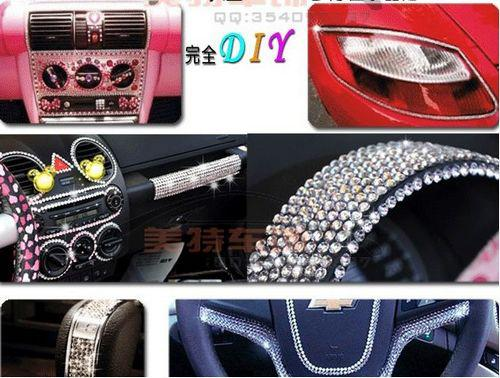 Diy car stickers swarovski crystal simulated diamond stickers 3mm accessories 504particles pcs xmas gifts new