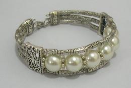 Wholesale Cheap China Jewellery - Wholesale cheap Fancy Jewellery Tibet Silver Shell Pearl Bracelet