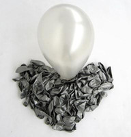 ingrosso sexy latex stewardess-100 Pz Palloncini in lattice di colore argento + 100 pezzi Stick Cup + pompa gonfiabile Decorazione del partito