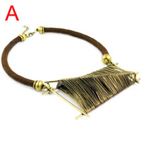 Wholesale Copper Winding Wire - Fashion Lady's Wire winding big pendant jewelry,oversized Irregular shape necklace, NL-1581