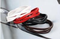 Wholesale String Wrap Bracelet - Wholesale -Unisex Bracelets 50pcs lot leather string Cuff bracelet charm bracelet jewelry wrap bracelet For Women