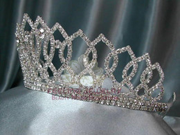 Wholesale Mix Dozen - Rhinestone pageant tiara crown TRI series 60pcs mixed styles+ 1 dozen larger tiaras TRK005 (ORDER)