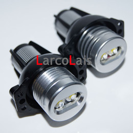 Wholesale Bmw 328i - 2pcs Super Bright 6W White LED Light Angel Eye Halo Ring Bulb Lamp for BMW Car E90 E91 328i 330i