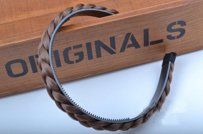 moda saç giymek el yapımı Örgü Saç Örgülü Kafa dört renk promosyon fiyat 50 adet / grup