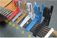 Wholesale Acoustic Guitar Gifts - 2016 New Acoustic Electric guitar metal capo Trigger change key gift 8008