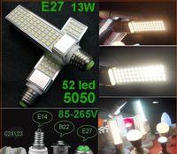 osram a mené des ampoules achat en gros de-15pcs 5050 SMD 52led 13W E27 E14 B22 G24 Ampoule Lumière Blanc Blanc Froid Blanc Chaud 85V-265V