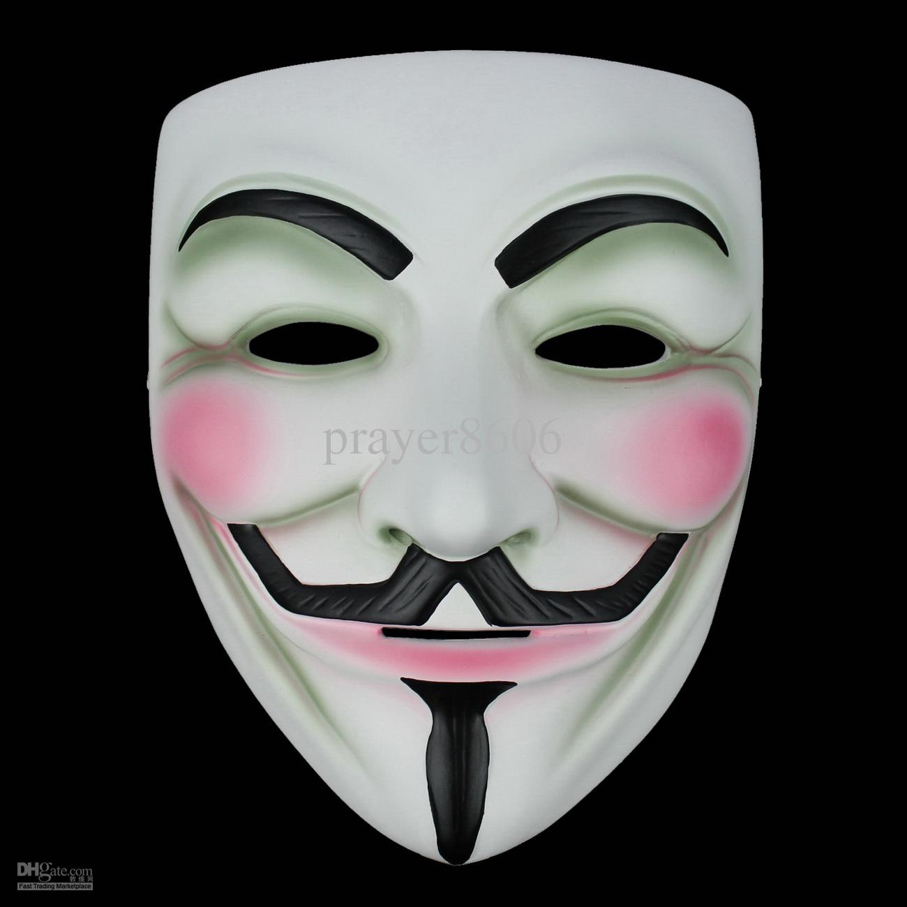 V For Vendetta Resin Mask Costume Scary Halloween Masquerade Party ...