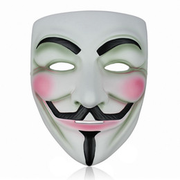 $enCountryForm.capitalKeyWord NZ - Brand New 5pcs Resin V for Vendetta Mask Halloween Masks cosplay party dance dress gift Props Decoration
