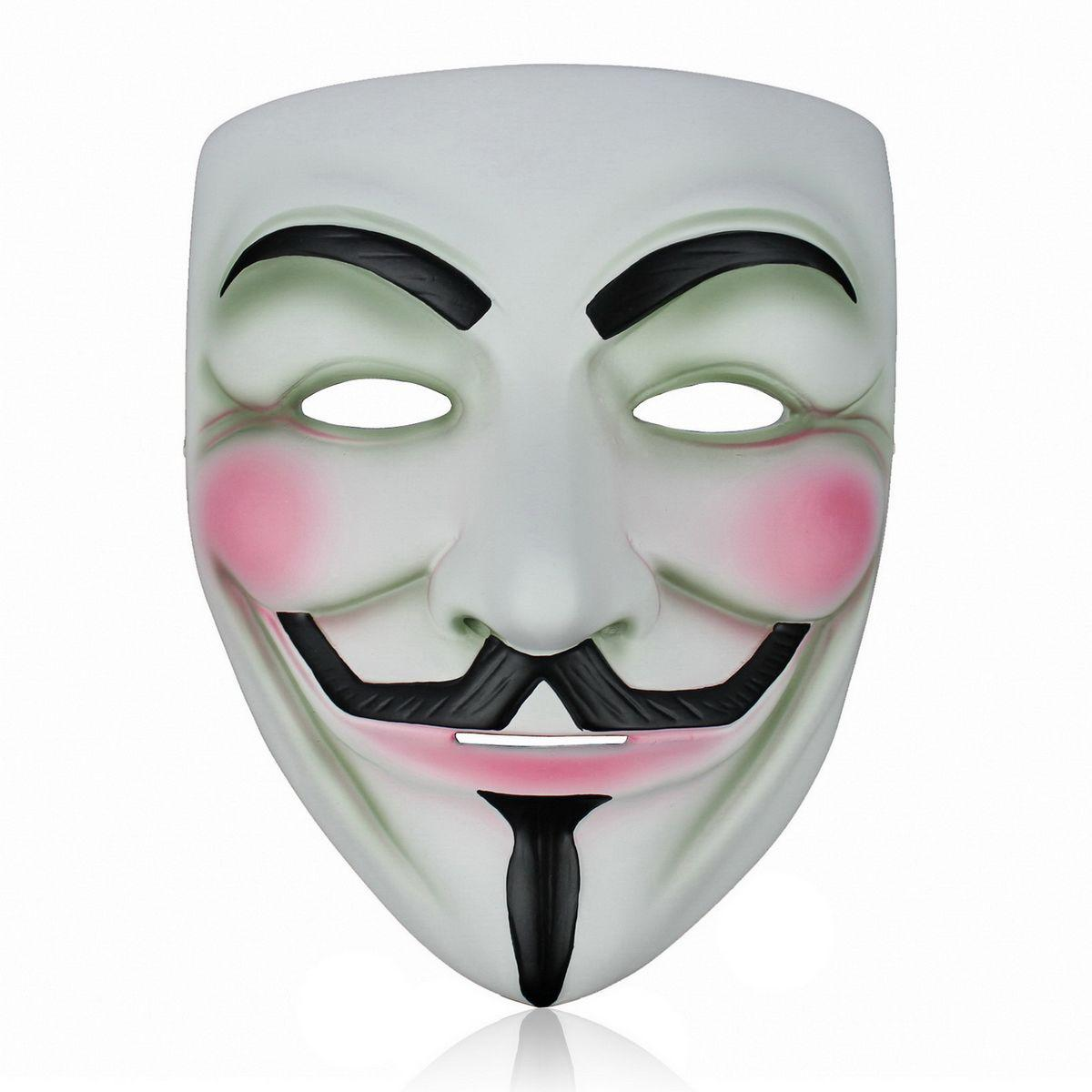 Brand New 5pcs Resin V for Vendetta Mask Halloween Masks cosplay party dance dress gift Props Decoration