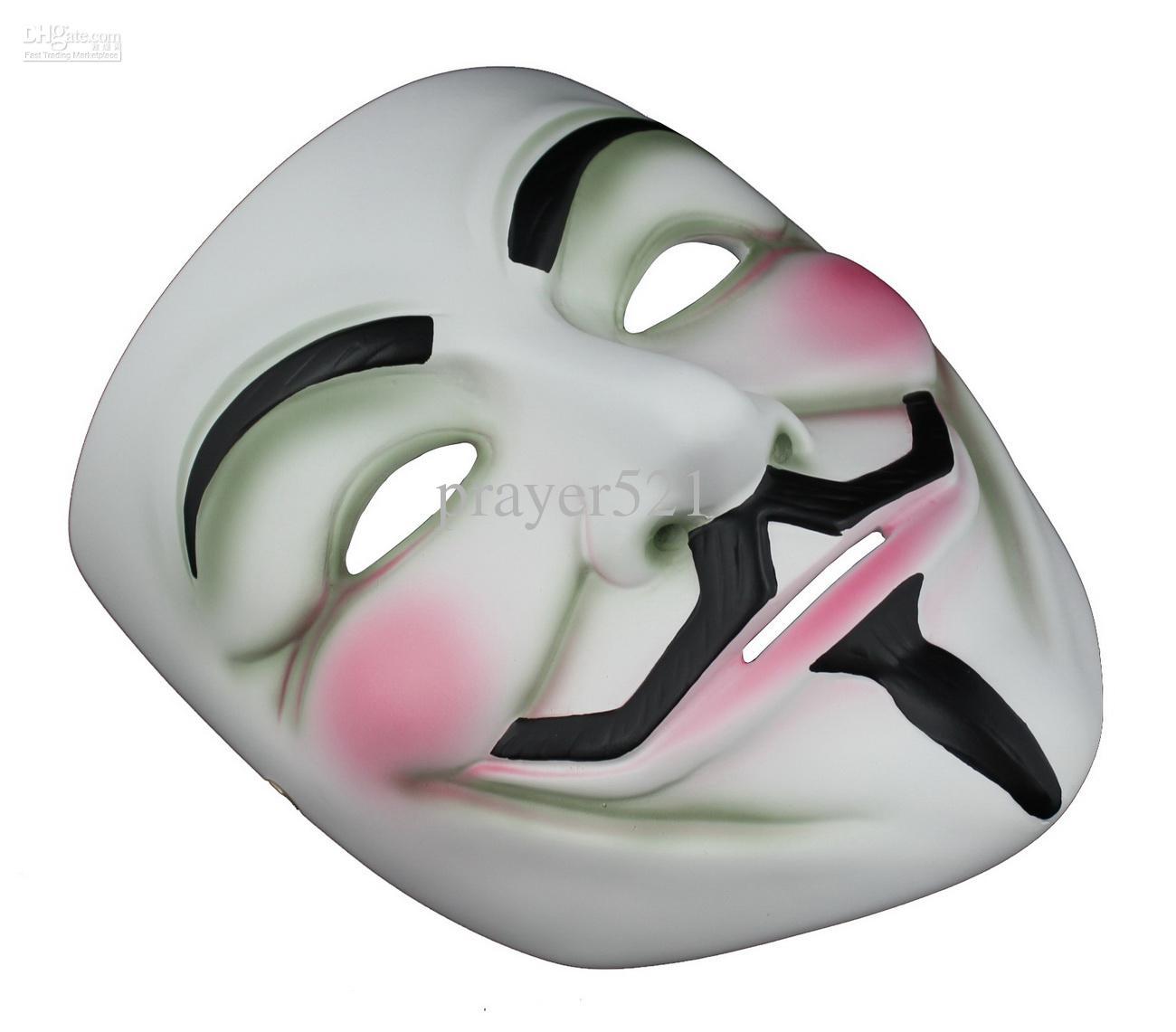 Resin V For Vendetta Mask Halloween Masks Cosplay Party Dance ...
