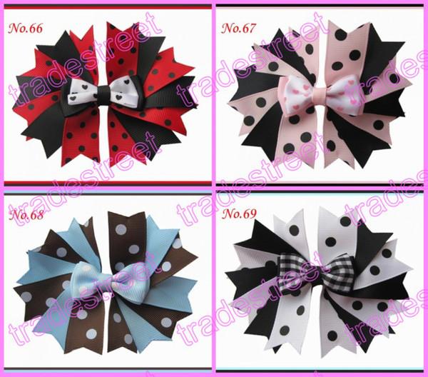 """Free shipping 500pcs 4.5"""" fashion Girls Novel A-Swallowtail hair bows girl boutique hair Clips"""