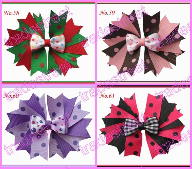 """4.5"""" fashion Girls Novel A-Swallowtail hair bows girl boutique hair Clips"""