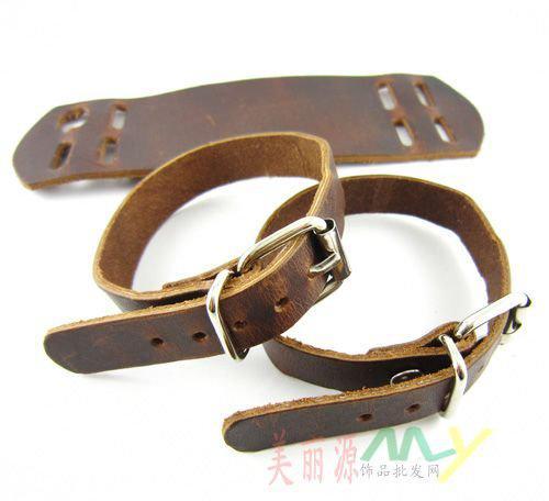 Bracelets Punk Bracelets Punk 100% en cuir Double 100% pour hommes peut diviser les cadeaux de Noël Boucle de Ceinture stylé