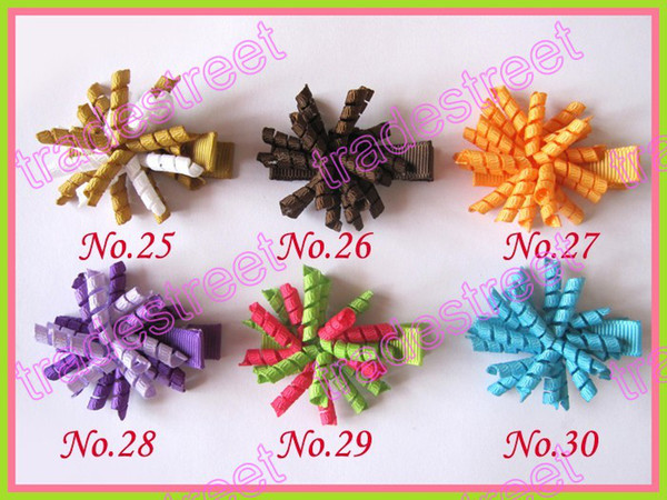 """free shipping 45pcs 1.5"""" korker hair bows (SEW ones) korker hair clips boutique corker hair clips"""