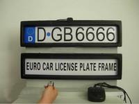 tamanho do quadro do carro venda por atacado-Plástico Steath Remoto Auto Car Placa de Licença Do Carro License Plate (EURO e tamanho da Rússia) H370