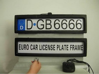 Wholesale auto plate frames - Plastic Steath Remote Auto Car Licence Plate Holder Car license Plate Frame (EURO and Russia size) H370