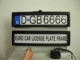 Vente en gros Support de plaque d'immatriculation de voiture en plastique à distance de voiture automatique Cadre de plaque d'immatriculation de voiture (taille EURO et Russie) H370