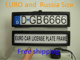 euro cars Promo Codes - Plastic Car License Plate Frame European Remote Control Car Licence Frame Cover Automatic Plate Privacy(EURO and Russia size)
